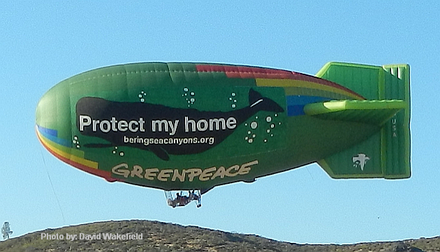 Greenpeace Thermal Airship - © Cheers Over California, Inc.