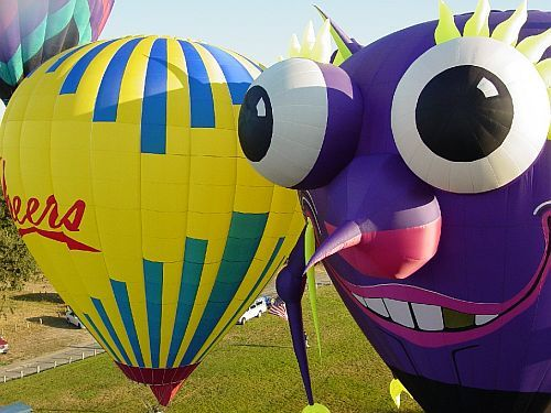Cheers and Purple People Eater - Sonoma Hot Air Balloon Classic